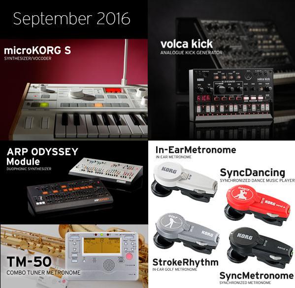 Weltweite Produkt-Releases bei KORG im September 2016