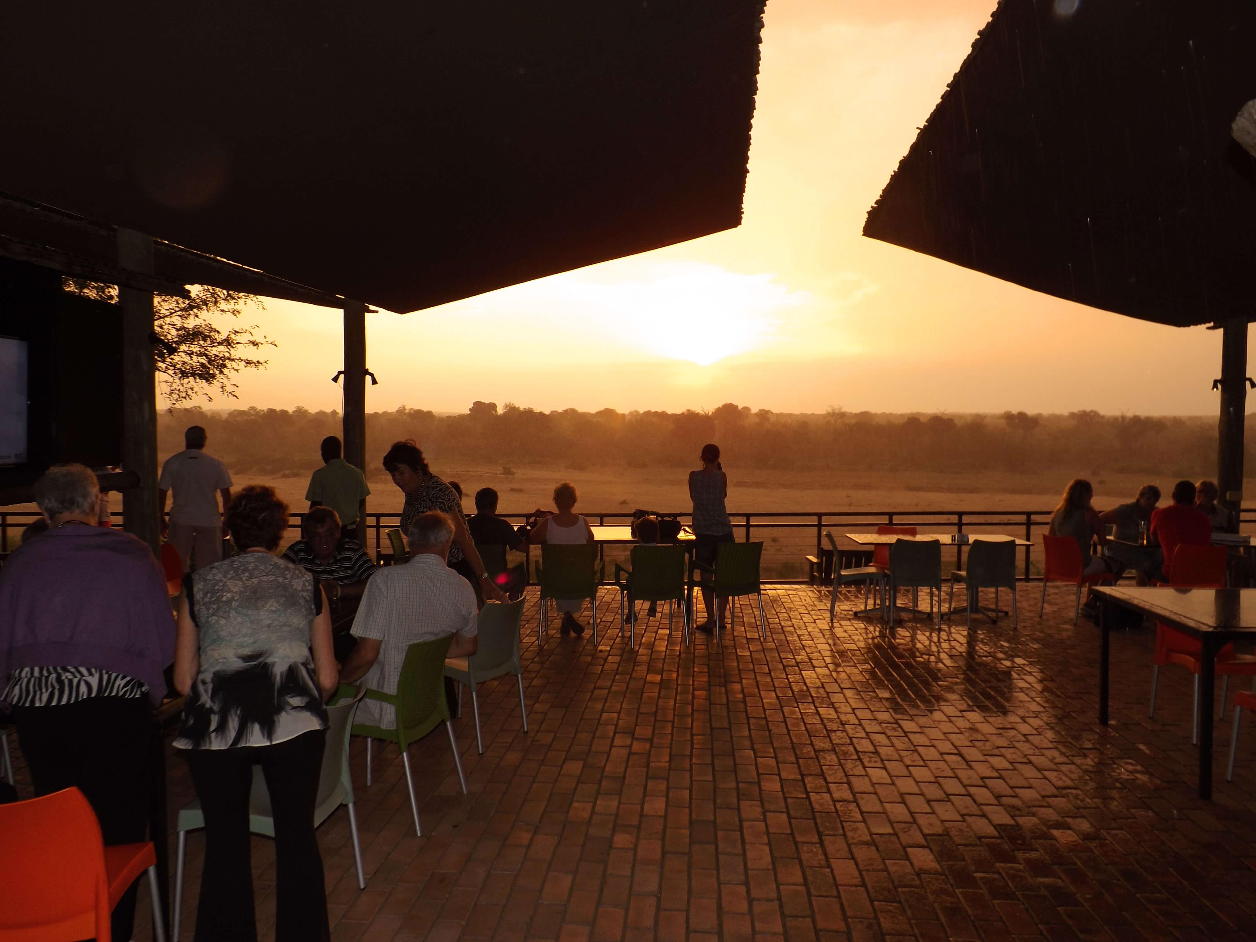 Beautiful Sunset From Le Fera Deck at Ngwenya Lodge