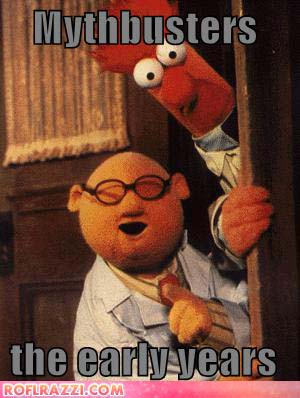 Dr. Bunsen Honeydew and Beaker from Seasme Street