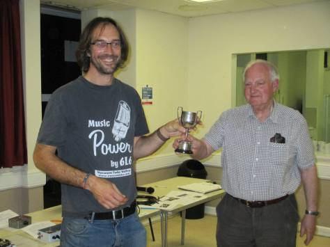Construction Contest 2014 - Peter presenting second prize to John G4RDC