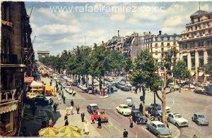 Postal (1963) - Avenida de los Campos Eliseos (Paris).Front