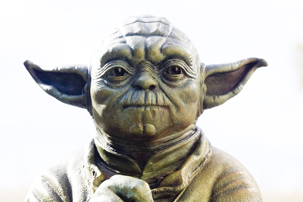 Origami de Yoda, el maestro Jedi