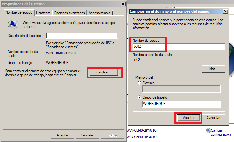 Agregar un controlador de dominio adicional sobre MS Windows ...