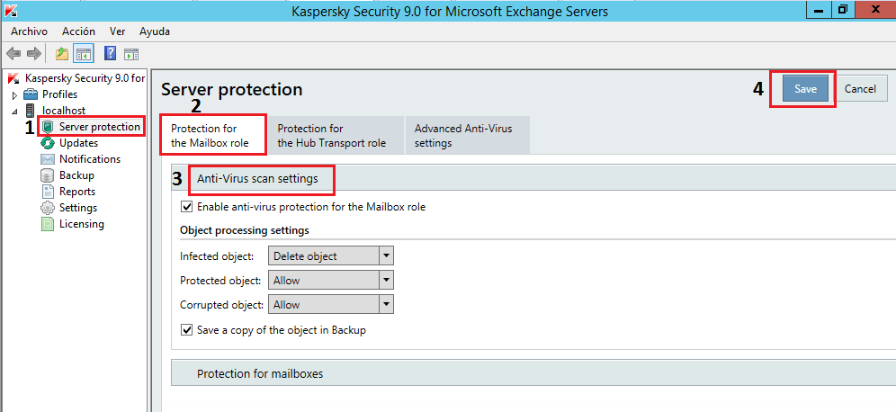 Kaspersky Security 9 0 for Microsoft Exchange Servers