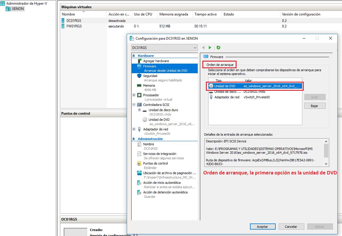 Instalación MS Windows Server 2016 – Administrador del servidor ...