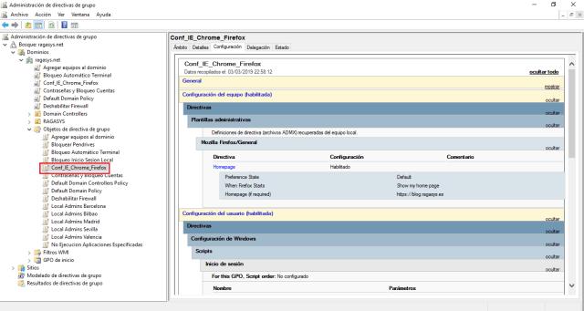 GPO para configurar página de inicio en Internet Explorer