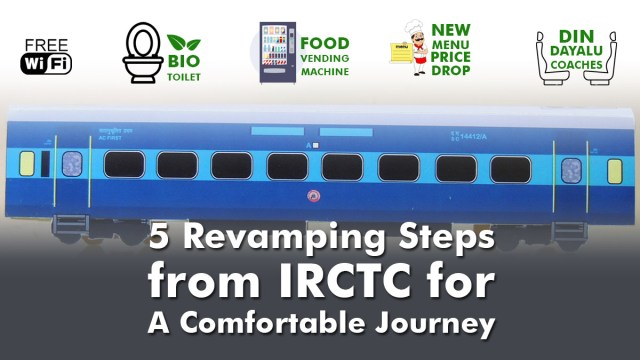 Steps by IRCTC  for a Comfortable Journey