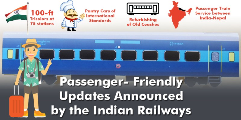 Updates for travelers by Indian Railways