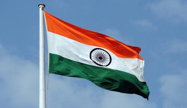 Flag hoisting at New Delhi, Janpath