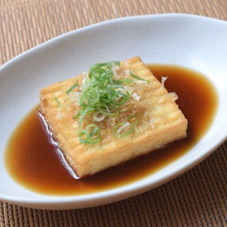 糖質制限 麺つゆ 厚揚げ