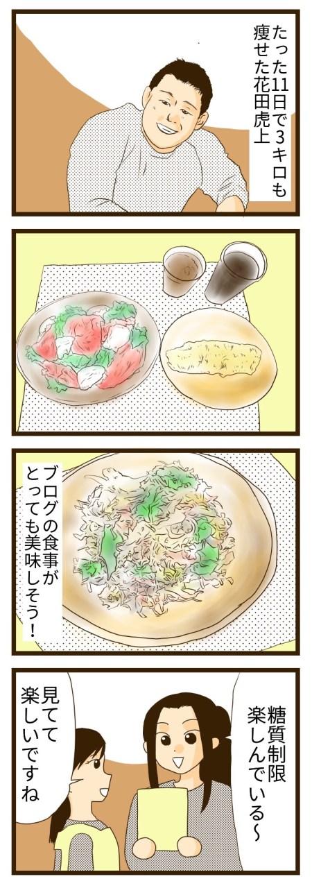 花田虎上 糖質制限