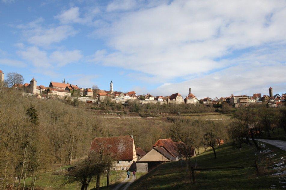 Ausblick auf Rothenburg