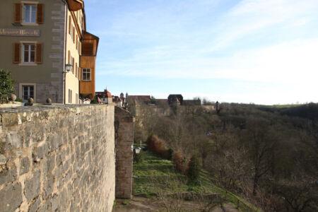 Der südliche Teil der Stadtmauer von Rothenburg