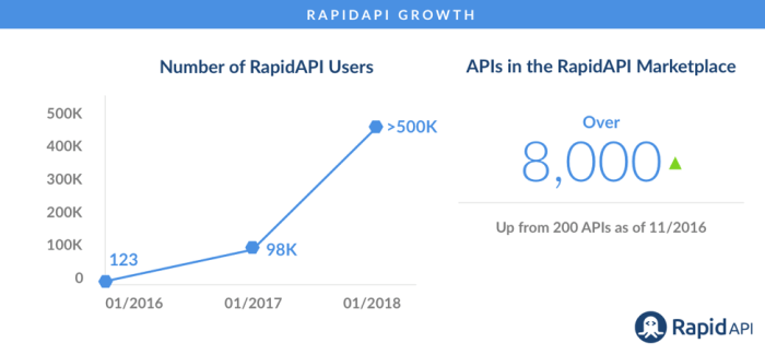 Growth of RapidAPI