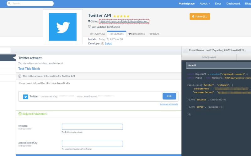 Twitter Node.js API
