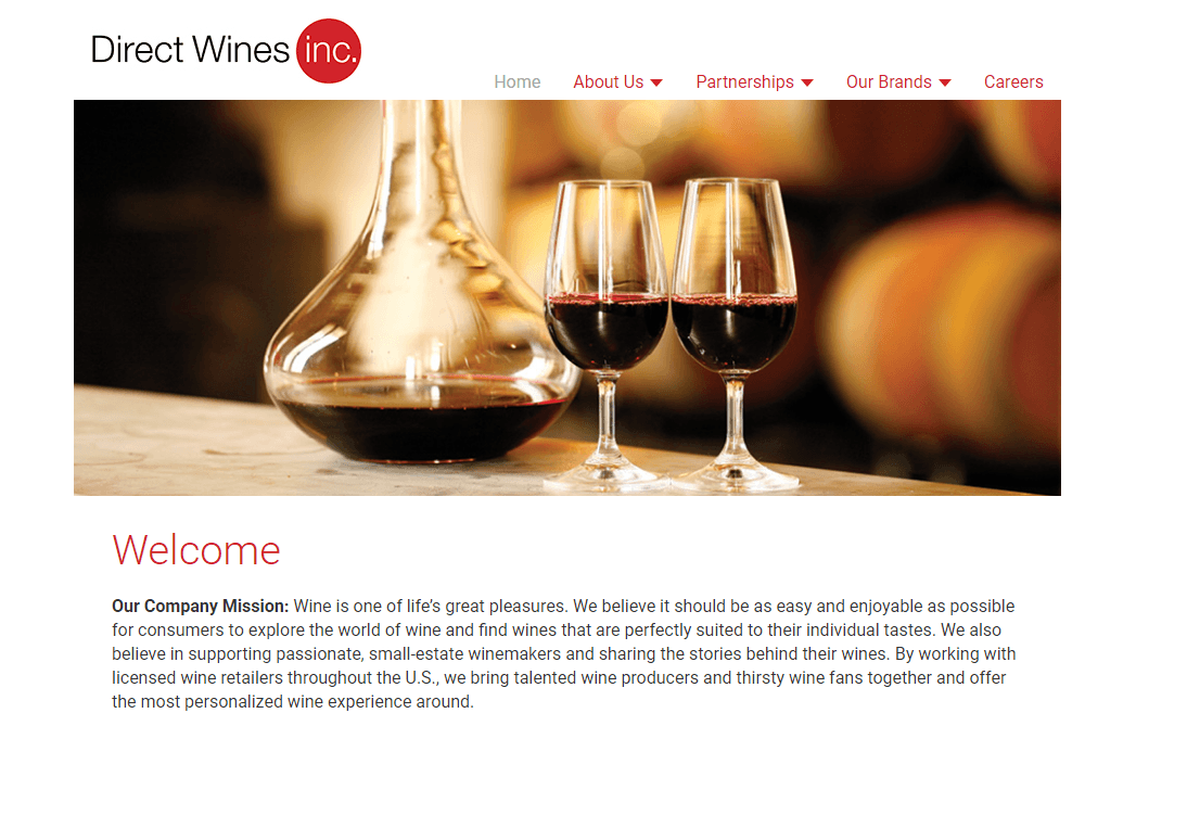 Direct Wines homepage