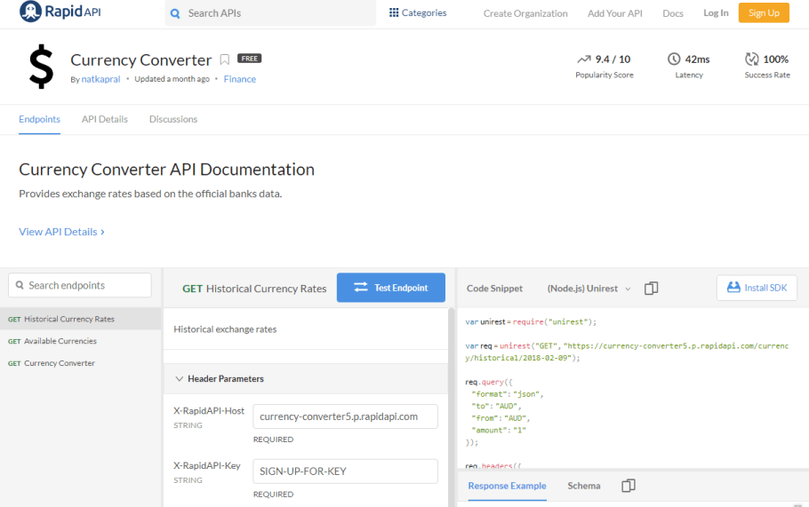 Currency Converter API Documentation
