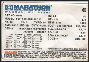 Marathon EQF56T17D2104FP