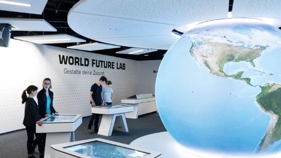 Ausstellungsbereich World Future Lab Foto: Klimahaus Bremerhaven8° Ost
