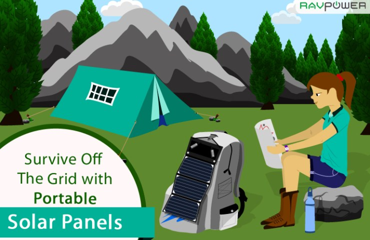 Cover Camping Portable Solar Panel Charger