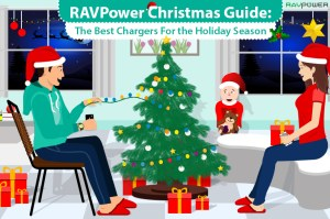 Christmas Gift Guide RAVPower Family Nintendo Switch RAVPower Solar Panel