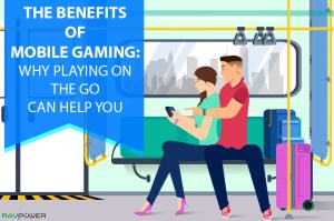 Gaming On The Go Benefits Subway Couple Smart Luggage Smart Suitcase Li-Ion RAVPower Blog Banner