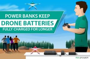 drone battery drone batteries power bank power banks RAVPower