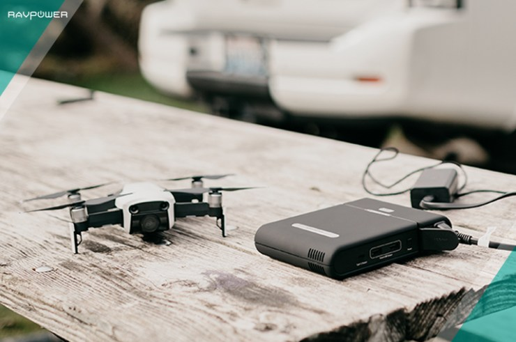 flight time portable charger DJI Mavic Pro RAVPower Power Station