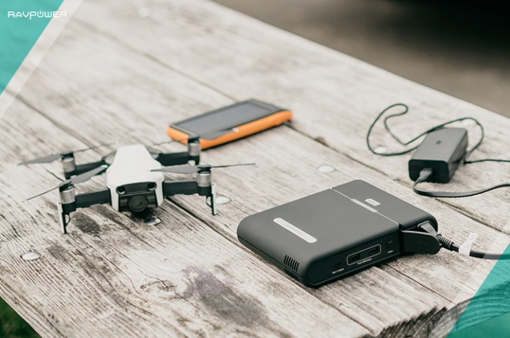 RAVPower Solar Charger Solar Power Bank AC Adapter How To Charge Your Drone With A Power Bank