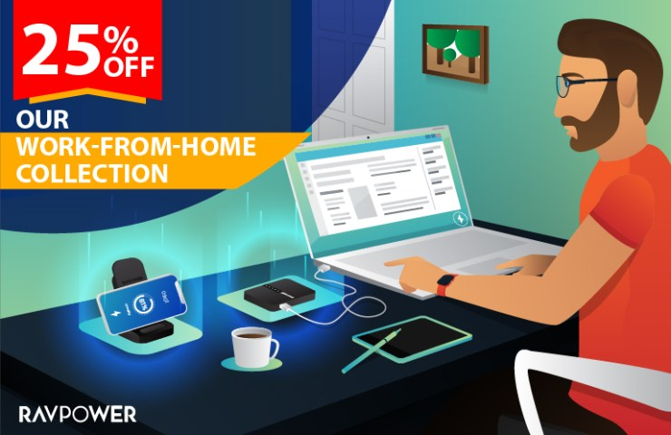 Working from home with RAVPower
