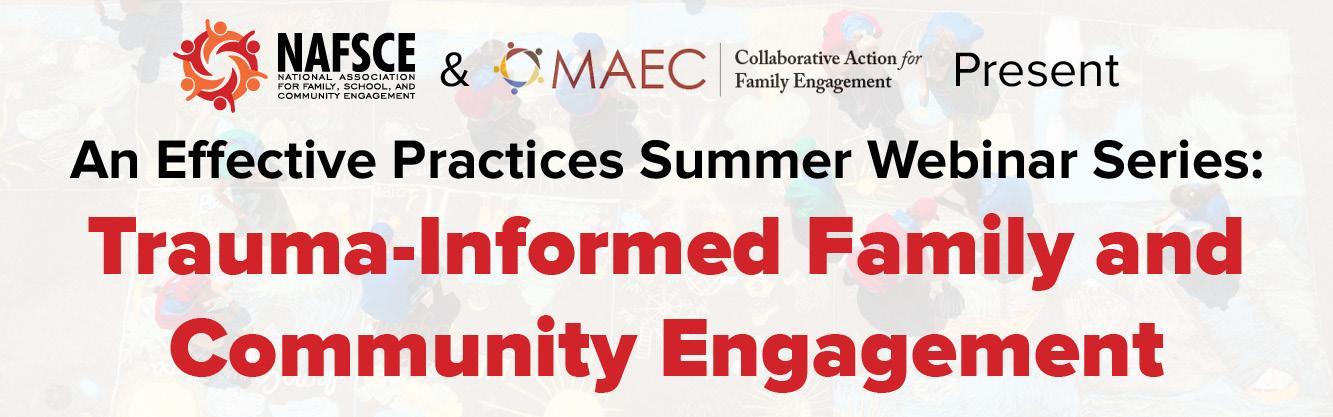 Banner of NAFSCE & MAEC Effective Practices Webinar Series