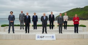 Foto de familia de los líderes del G7 en la 47ª cumbre en Cornualles, Reino Unido (2021). Foto: President Joe Biden (Wikimedia Commons / Dominio público). Blog Elcano