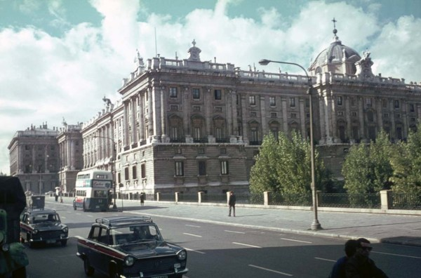 The Royal Palace of Madrid (Spain) in the 1960s. Photo: foundin_a_attic (CC BY 2.0). Elcano Blog