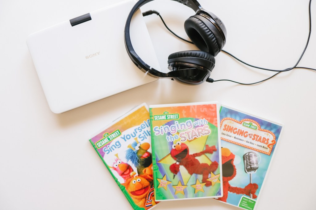 portable DVD player, Sesame Street DVDs