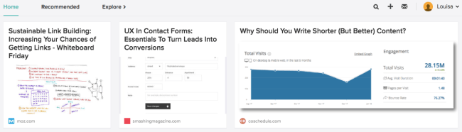 example of online presence tool in action