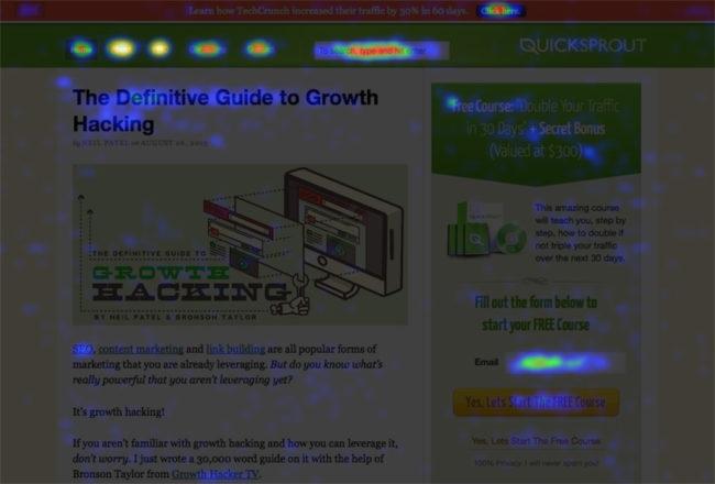 Heatmap Report CrazyEgg Example