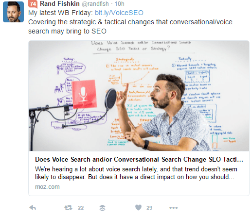 Rand Fishkin sharing a generic short URL
