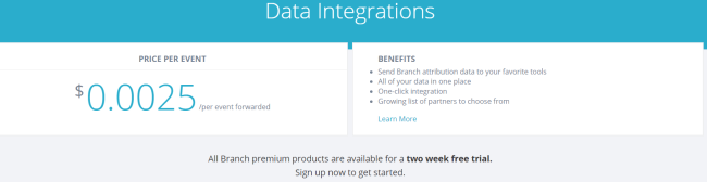 Branchio Data Integrations Pricing