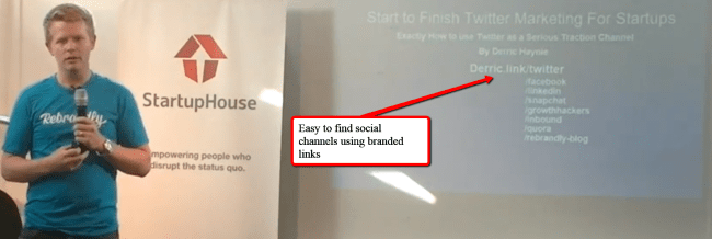 Easy to Find Social Channels Using Branded Links