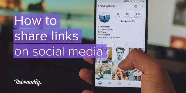 how to share links on social media