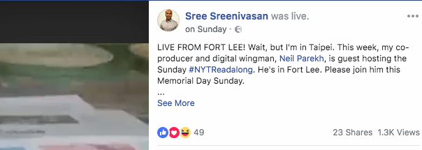 facebook live tips redirected url