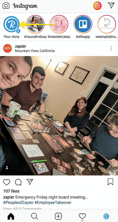 rebrandly instagram story