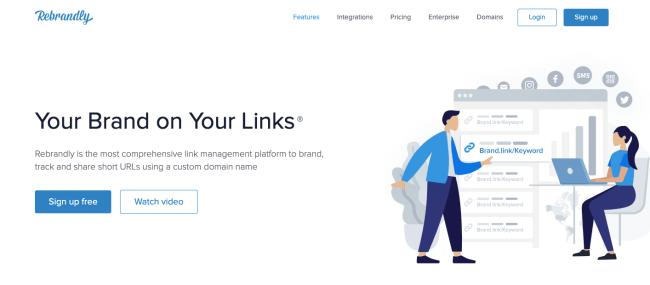 Rebrandly -free url shortener