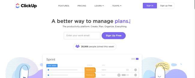click up - Productivity App 2019