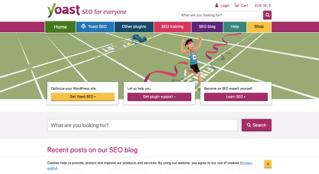 Yoast homepage