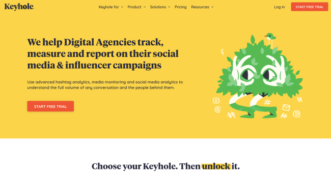 Keyhole Best Social Media Monitoring Tools