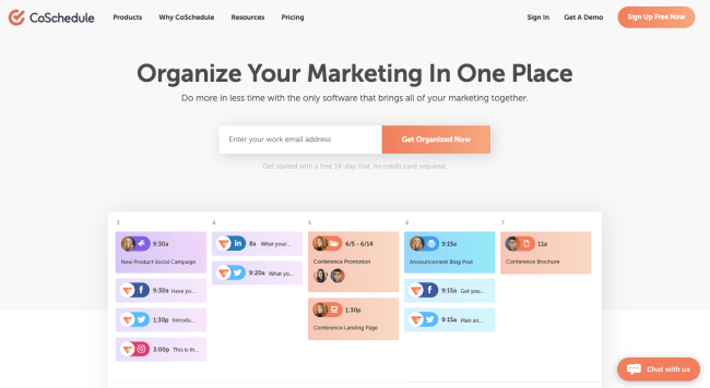 Coschedule - best marketing automation software