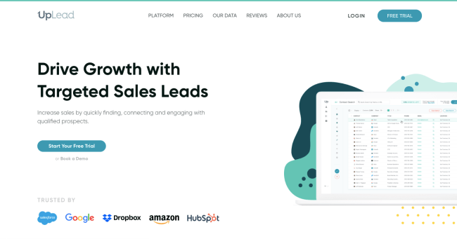 UpLead - best sales intelligence software