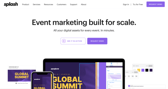 Splash - best event marketing software