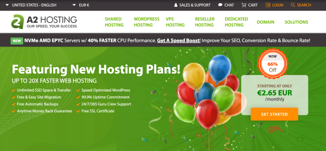 A2Hosting best web hosting provider